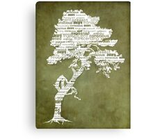 The Bodhi Tree of Awareness (White Version) Canvas Print