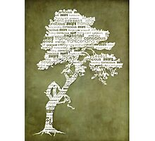 The Bodhi Tree of Awareness (White Version) Photographic Print