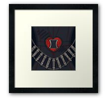 Black Widow Heart Framed Print