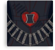 Black Widow Heart Canvas Print