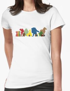 Beauty and the Beast Crew Womens Fitted T-Shirt