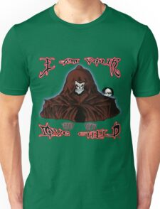 GRIM REAPER AND SIDE KICK/ I AM YOUR LOVE CHILD  Unisex T-Shirt