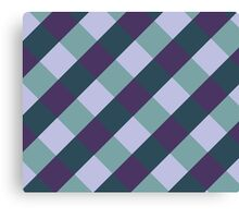 Checked Purple and Green Pattern Canvas Print