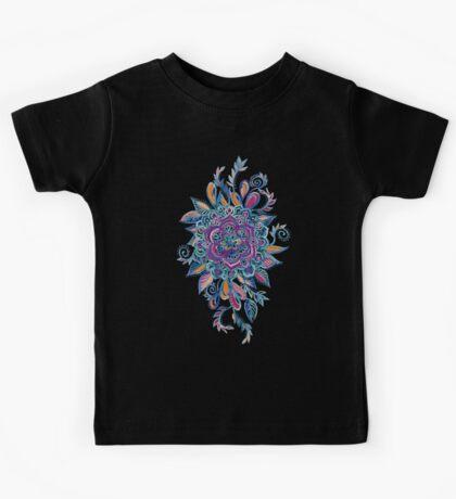 Deep Summer - Watercolor Floral Medallion Kids Tee
