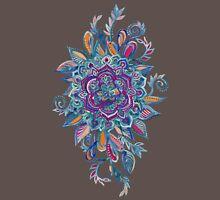 Deep Summer - Watercolor Floral Medallion T-Shirt