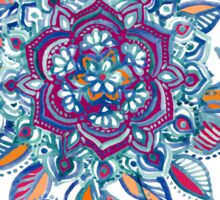 Deep Summer - Watercolor Floral Medallion Sticker