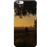 Autumn morning in the countryside iPhone Case/Skin