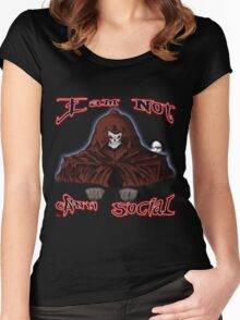 GRIM REAPER AND SIDE KICK/ I AM NOT ANTI-SOCIAL Women's Fitted Scoop T-Shirt