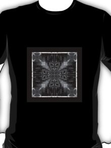 black and white chair fractal art pattern T-Shirt