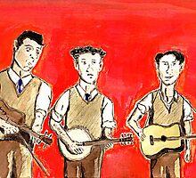 Three-Man String Band by Bill Ackerbauer