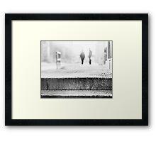 winter morning in the city Framed Print