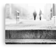 winter morning in the city Canvas Print