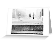 winter morning in the city Greeting Card