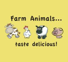 Farm Animals Taste Delicious One Piece - Short Sleeve