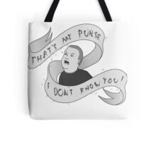 That's my purse! Black and white Tote Bag