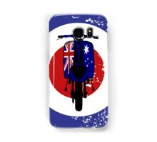 Retro Scooter with Aussie flag decals Samsung Galaxy Case/Skin