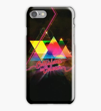 Collissions in Color Art Poster iPhone Case/Skin
