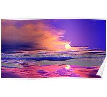 Sand-flat Sunset - Photoshopped Poster