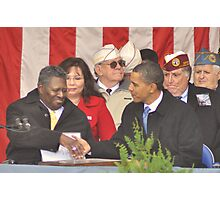 Giving thanks to Americas Hero's Photographic Print