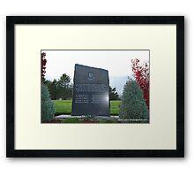 Veterans Memorial Framed Print