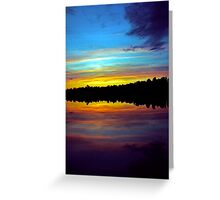 The Sun Sets Greeting Card