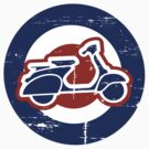 Aged Mod Target and scooter logo by Auslandesign