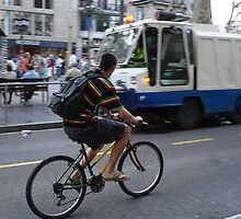Bicycle and Street Cleaning Truck by jsflysrc