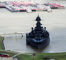 Battleship Texas, Seen from Atop San Jacinto Monument by Susan Russell
