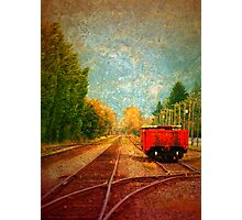 Alone on the Tracks Photographic Print
