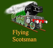 The Flying Scotsman with Blinkers design by Dennis Melling