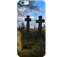 Spring time in the church yard iPhone Case/Skin