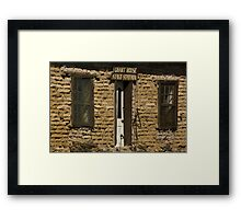 Grant House Stage Station - Shakespeare, NM Framed Print