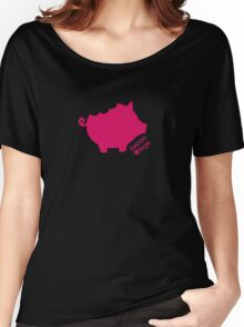 Take a Bite Out of Pig (Pink)  Women's Relaxed Fit T-Shirt