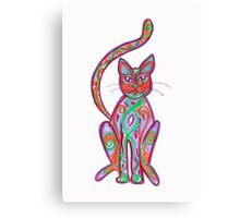 coloured cat Canvas Print