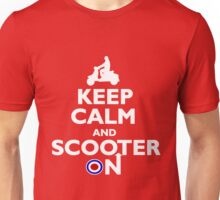 Keep Calm and Scooter On Unisex T-Shirt