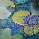 Purple Hawaian Lotus16x20 acrylic on canvas by eoconnor