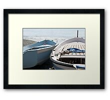 Boats in Monterosso Framed Print