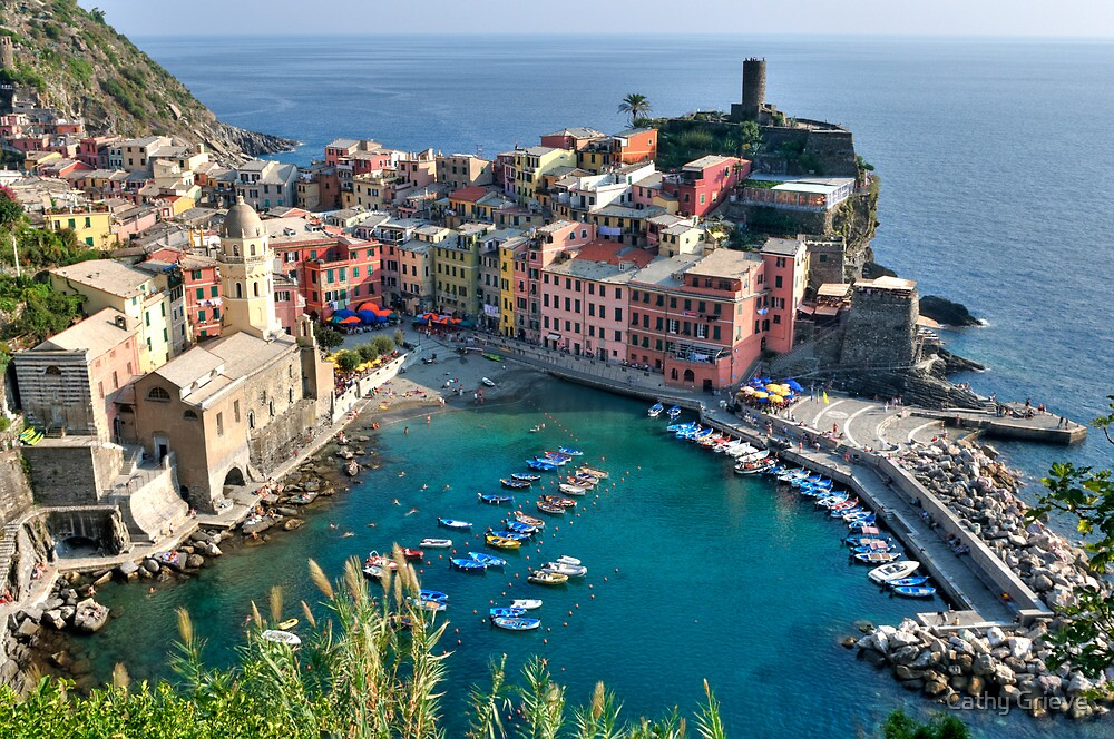 Vernazza, Cinque Terre, Italy by Cathy Grieve