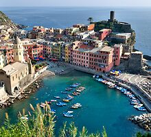 Vernazza, Cinque Terre, Italy by Cathy Grieve