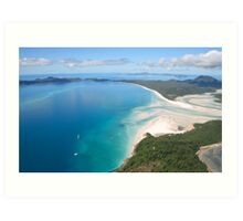 Aerial view of Whitehaven Beach, Queensland, Australia Art Print