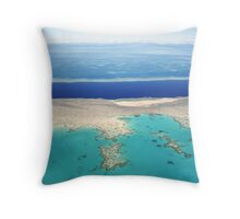 Great Barrier Reef pontoon, Queensland, Australia Throw Pillow
