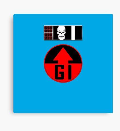 Helm BioChip and GI Badge Canvas Print