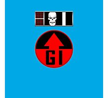 Helm BioChip and GI Badge Photographic Print