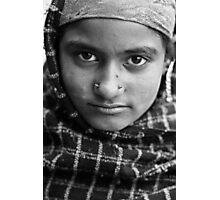 Gypsy Girl with Shawl - Himilayan Faces Photographic Print