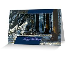 Pines Doorway - Happy Holidays Greeting Card