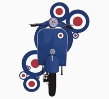 Blue scooter on roundels by Auslandesign
