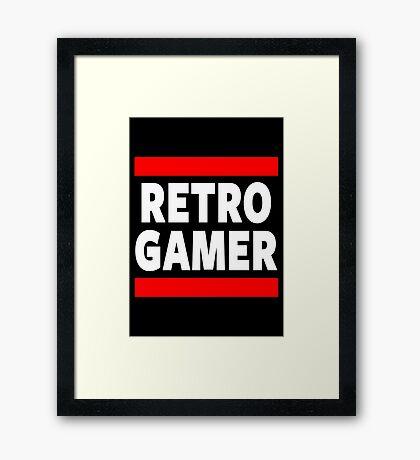 Retro Gamer Framed Print