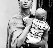 Woman with child by Chinua Ford