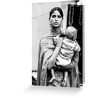 Woman with child Greeting Card