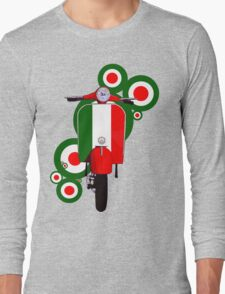 Italian decal scooter on roundals Long Sleeve T-Shirt